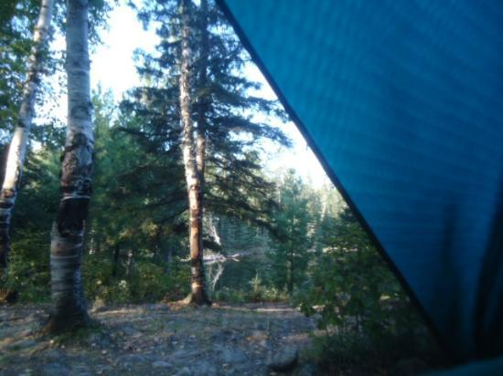 Bear Head Lake State Park: View from our tent