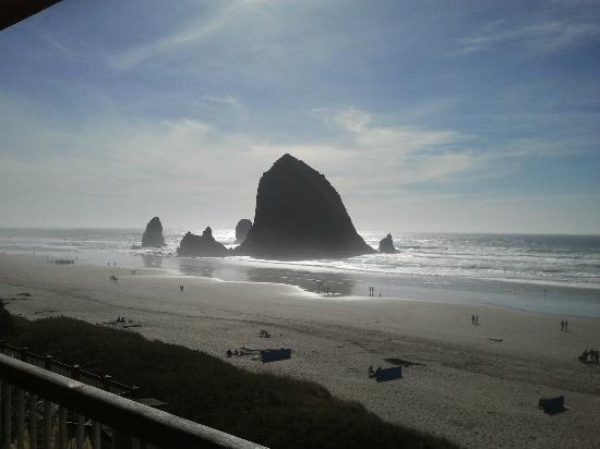 Hallmark Resort Cannon Beach: Lot's of people on the beach