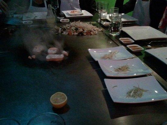 Teppanyaki Yonghua: Cuisson du foie gars...