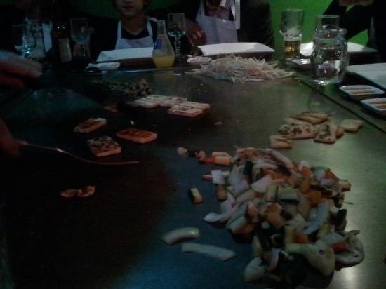 Teppanyaki Yonghua: ...Et de ces petits légumes.