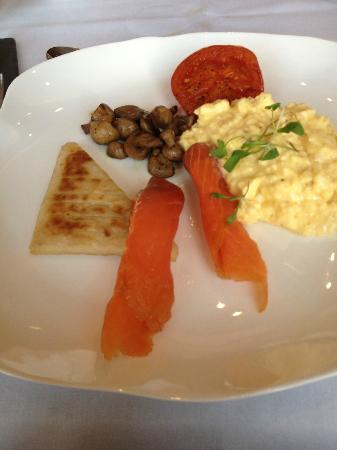 MacNean House & Restaurant: Burren Smokehouse Salmon at breakfast