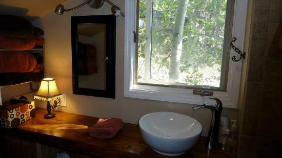 Barbara's B&B: stylish bathroom