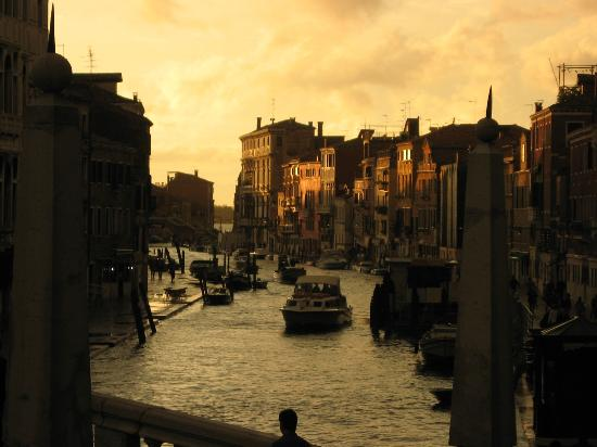 Cannaregio Canal at sunset from our room at La Palazzina Veneziana