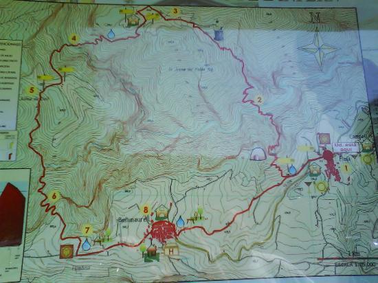 Camping & Bungalows Vall de Laguar: mapa ruta