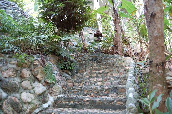 Salad Buri Resort & Spa : steep stairs