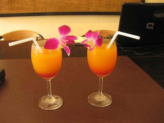 Ansara Hotel: Welcome juice