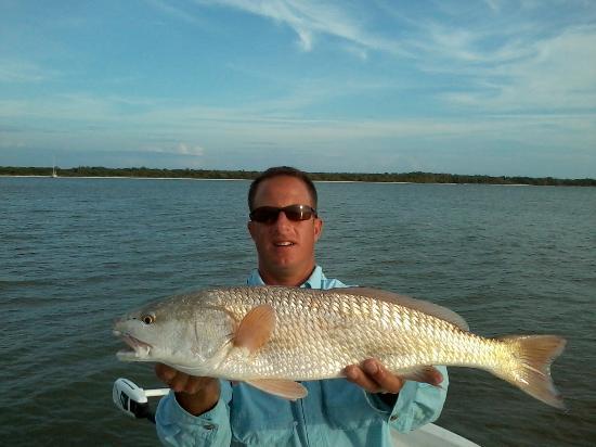 Capt. Joe Cassaro: Capt. Joe with a redfish