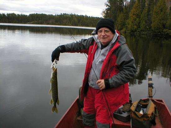Lost Lake Wilderness Lodge : Happy fisherman
