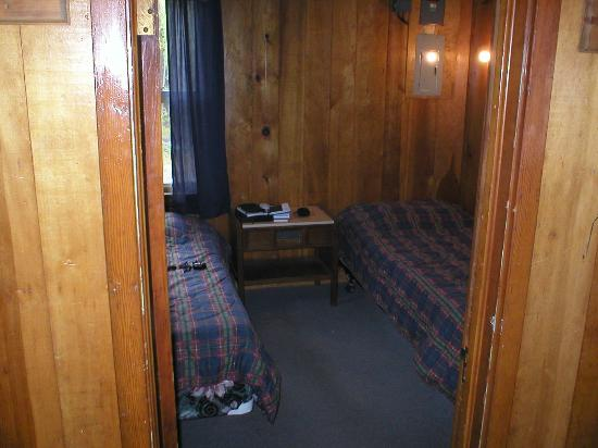 Lost Lake Wilderness Lodge: Bedroom #1 in cabin #7