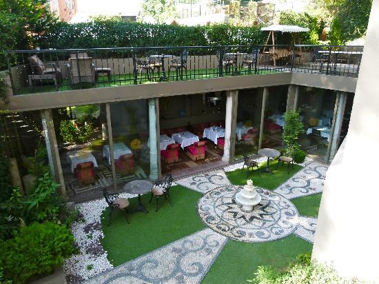 Sokullu Pasa Hotel: salon terrasse et salle du petit déjeuné