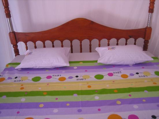 Viraj's Garden : Chambre calme ; confortable et propre avec un grand lit
