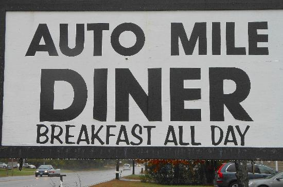 Auto Mile Diner : Sign