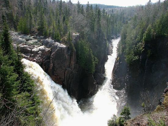 Aquasabon falls and river gorge terrace bay on picture for Terrace bay ontario