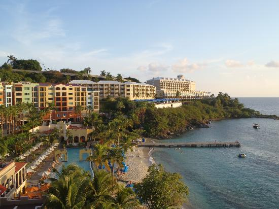 Marriott's Frenchman's Cove: View of hotel, beach, and pool from room!
