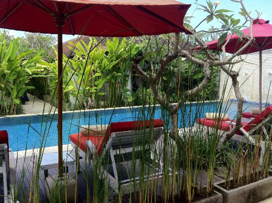 Ivory Resort Seminyak : Nice quiet area with decent sunbeds