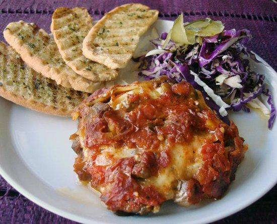 Charcoal: My Vegetarian Lasagna lunch