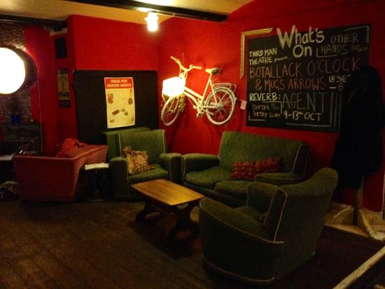 The Bike Shed Theatre and Cocktail Bar: One of three sets of sofas.