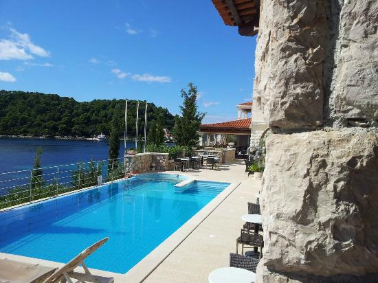 Sudurad, Croatia: The view from the pool