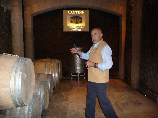 Torraccia di Chiusi: Stefano in his winery