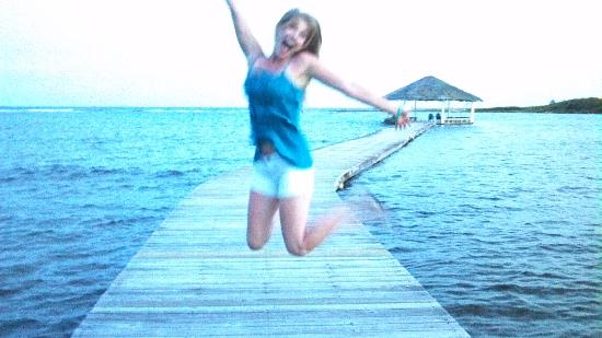 Barefoot Cay: Yes, Barefoot made me THIS happy! :)