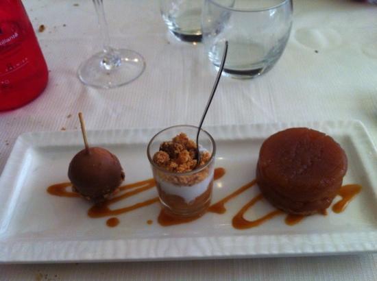 La Mere Poulard: trio de dessert autour de la pomme