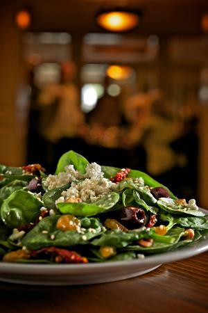 Zea Rotisserie & Grill : Spinach Salad with Pepper Jelly Vinaigrette