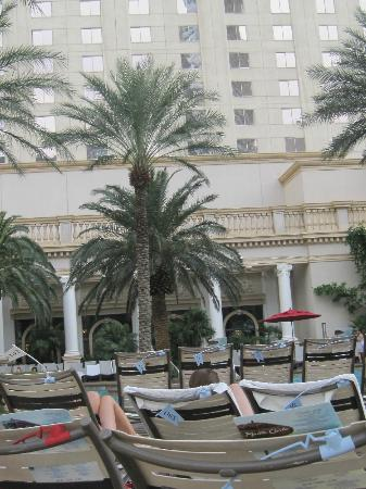 Monte Carlo Resort & Casino: View at poolside