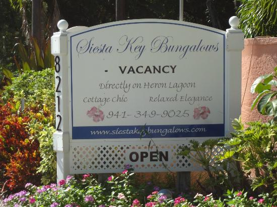 Siesta Key Bungalows: Sign