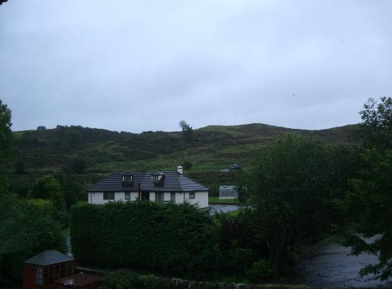 The Glen Guest House: View of Helm from bedroom window