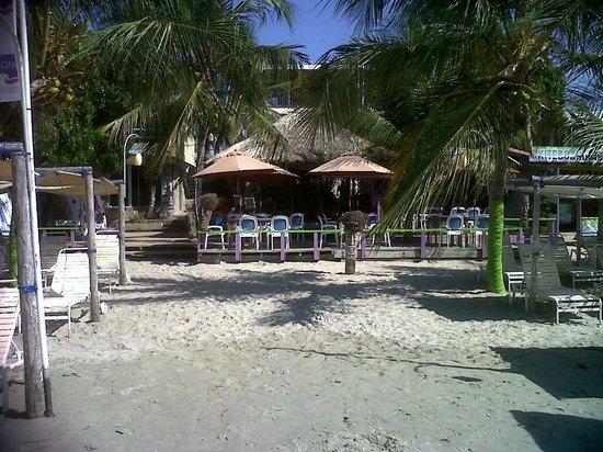 Sharks Beach Bar El Yaque: Restaurante visto desde la playa