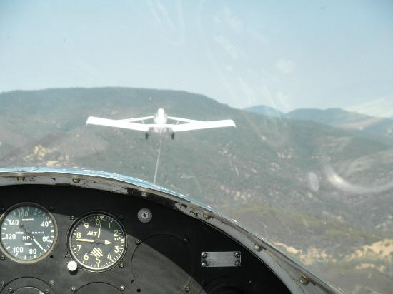 Crazy Creek Air Adventures: In the glider being towed into the sky!