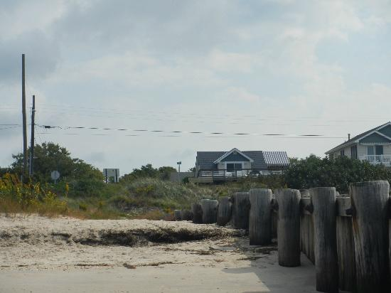 Dolphin Watch: View of the house from the beach.