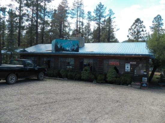 Greer Mountain Resort Country Cafe: Greer Country Cafe (with my truck out front) 9-20-12