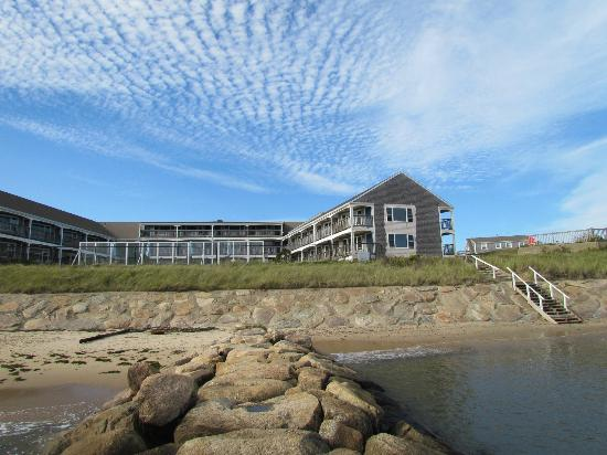 Pelham House: View of Inn from beach