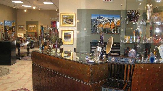 Cobalt Fine Arts Gallery : Inside the gallery.