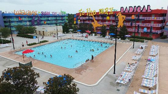 Disney's Pop Century Resort: computer pool