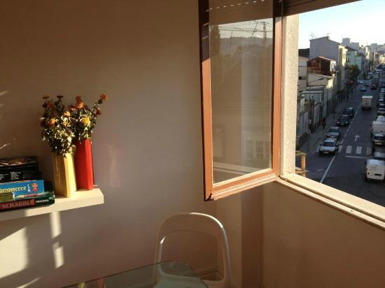 Braga POP Hostel: view from window