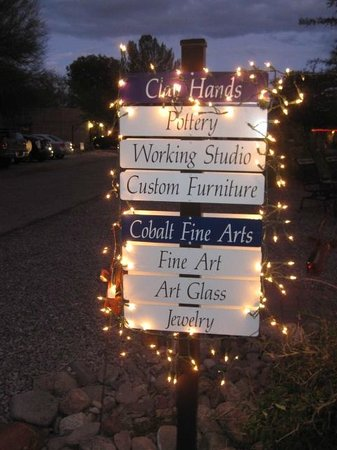 Cobalt Fine Arts Gallery: Sign during Luminary