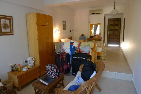 Sultan Palas: bedroom .just unpacked sorry for mess!