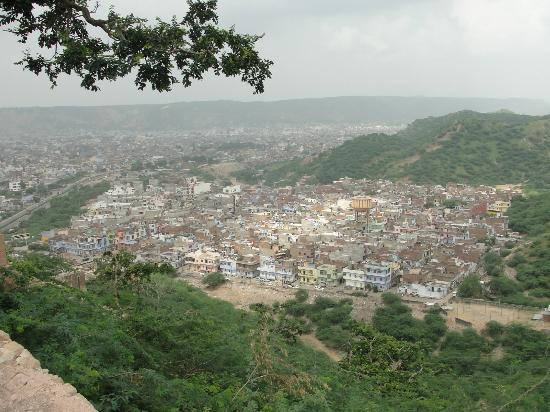 Monkey Temple (Galta Ji): View of Jaipur from the temple