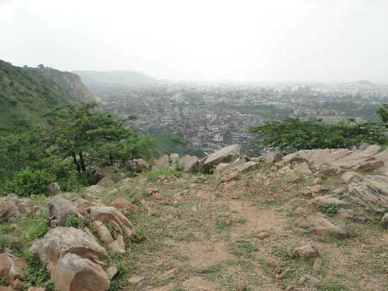 Monkey Temple (Galta Ji): View of Jaipur from temple