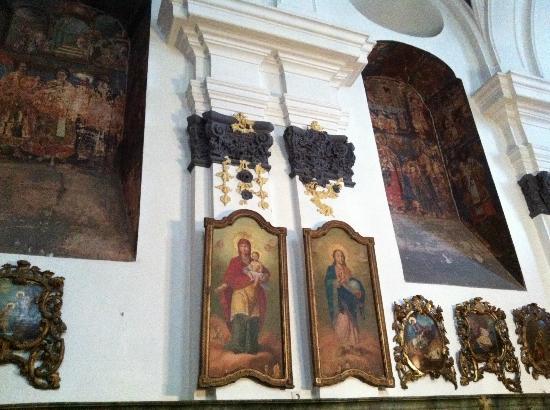 Blagovestenska Church : Afresco de St. Helene e St. Constantine