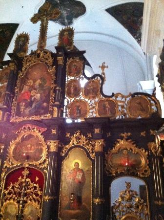 Blagovestenska Church: Iconóstase separando a nave