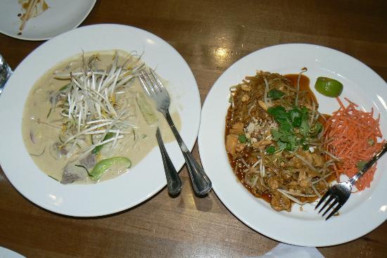 Teton Thai: Beef Curry and Pad Thai