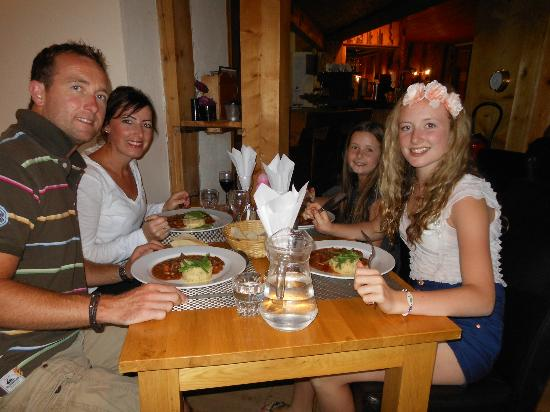 Hotel-Chalet La Renardiere: An example of the quality of food served at Dinner