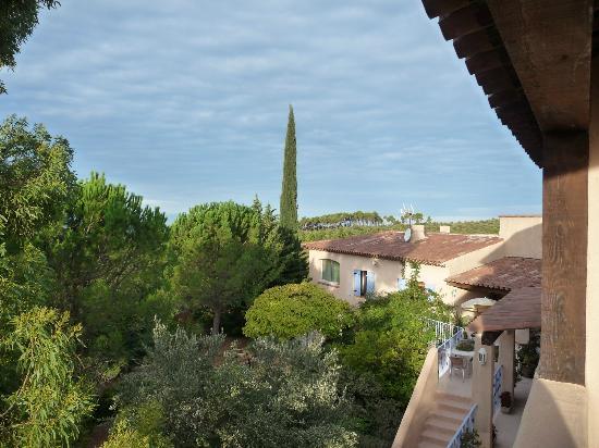 Hotel Le Mas des Collines: Träd som delvis skymmer utsikten