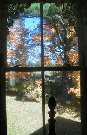 Pie-in-the-Sky Farm Bed & Breakfast: kid room view from window in October
