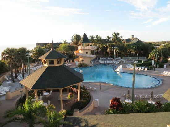 Disney's Vero Beach Resort: view of the pool from our balcony