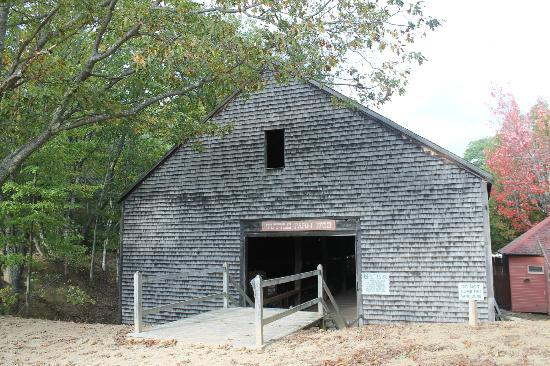 Desert of Maine: Barn full of old farming equipment and antique equipment.