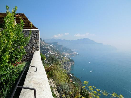 Monastero Santa Rosa Hotel & Spa: from the infinity pool edge
